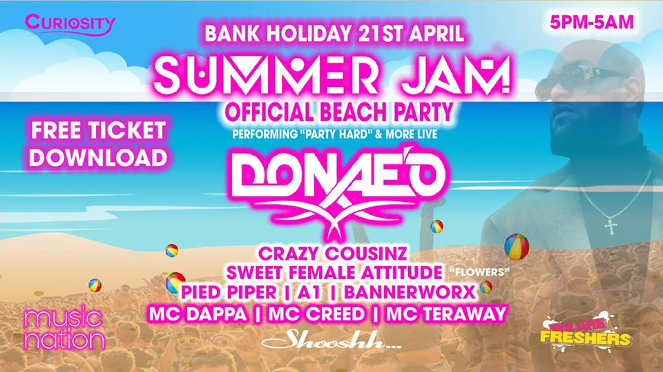 Summer Jam Official Beach party